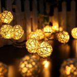Guirlande lumineuse boules de rotin