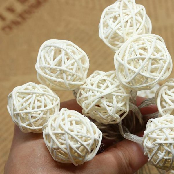 10-LED-Color-Rattan-Ball-String-Fairy-Lights-For-Xmas-Wedding-Party-Hot-2018-NEW-Party-4