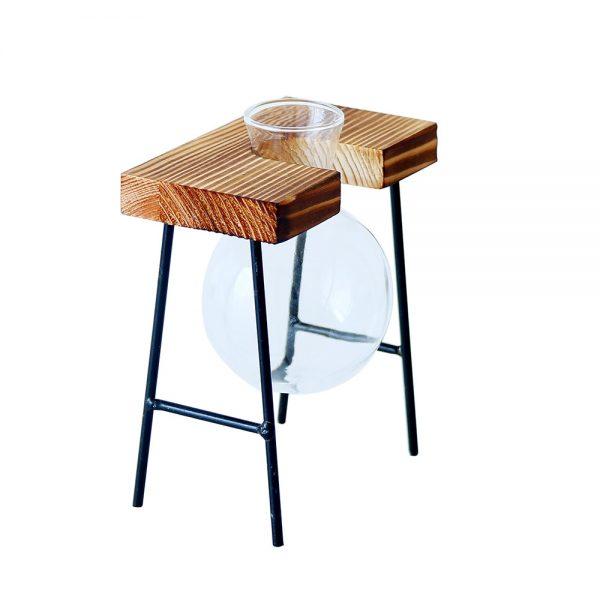Creative-Glass-Bottle-Vase-Hydroponic-Plant-Transparent-Vase-Wooden-Frame-Coffee-Shop-Room-Decor-Table-Desk-0