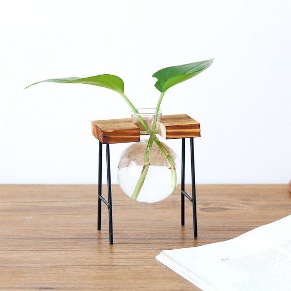 Creative-Glass-Bottle-Vase-Hydroponic-Plant-Transparent-Vase-Wooden-Frame-Coffee-Shop-Room-Decor-Table-Desk-1 copy