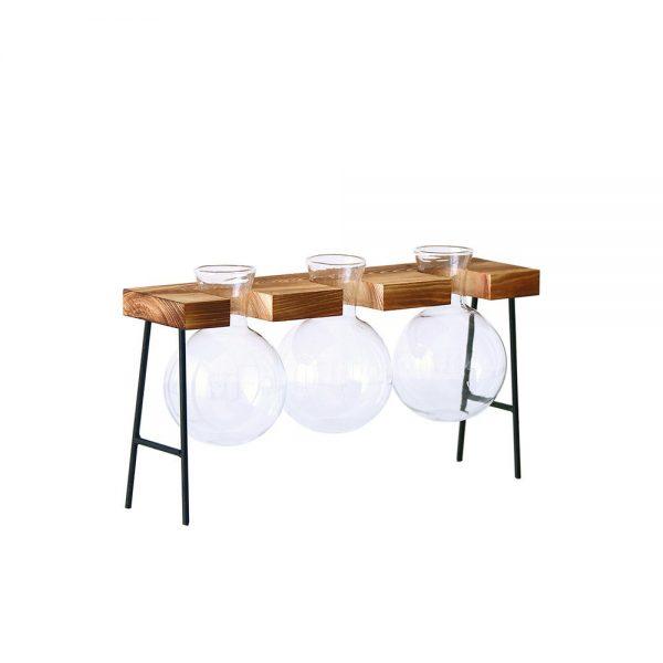 Creative-Glass-Bottle-Vase-Hydroponic-Plant-Transparent-Vase-Wooden-Frame-Coffee-Shop-Room-Decor-Table-Desk-2