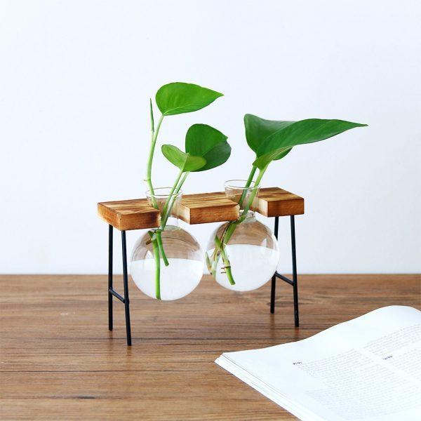 Creative-Glass-Bottle-Vase-Hydroponic-Plant-Transparent-Vase-Wooden-Frame-Coffee-Shop-Room-Decor-Table-Desk-2 copy