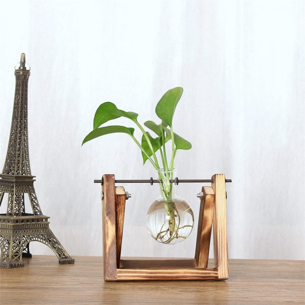 ISHOWTIENDA-Vintage-Creative-Hydroponic-Plant-Transparent-Vase-Wooden-Frame-vase-for-decoratio-Glass-Tabletop-Plant-Bonsai-2