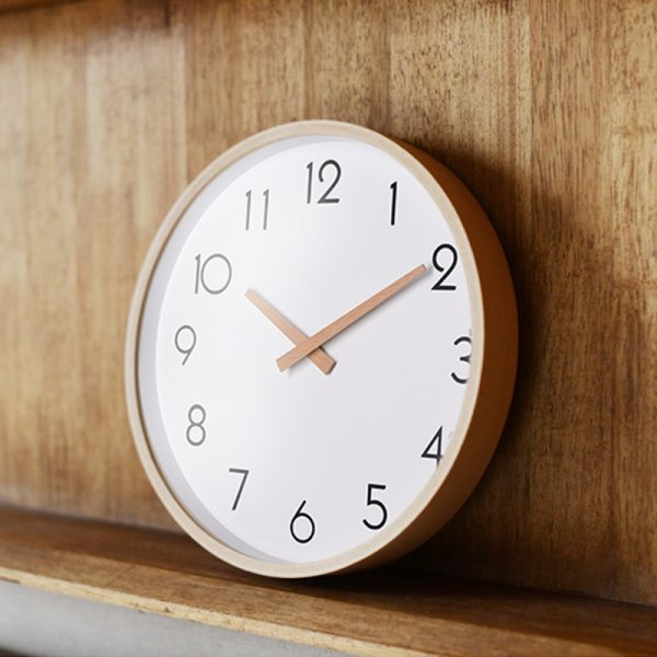 Large-Wall-Clocks-wood-metal-needle-number-modern-line-Silent-Movement-clear-glass-cover-beech-outershell-0