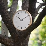 Large-Wall-Clocks-wood-metal-needle-number-modern-line-Silent-Movement-clear-glass-cover-beech-outershell-2