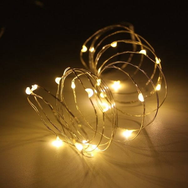 New-2M-5M-10M-Copper-Silver-Wire-LED-String-lights-Waterproof-Holiday-lighting-For-Fairy-Christmas-4