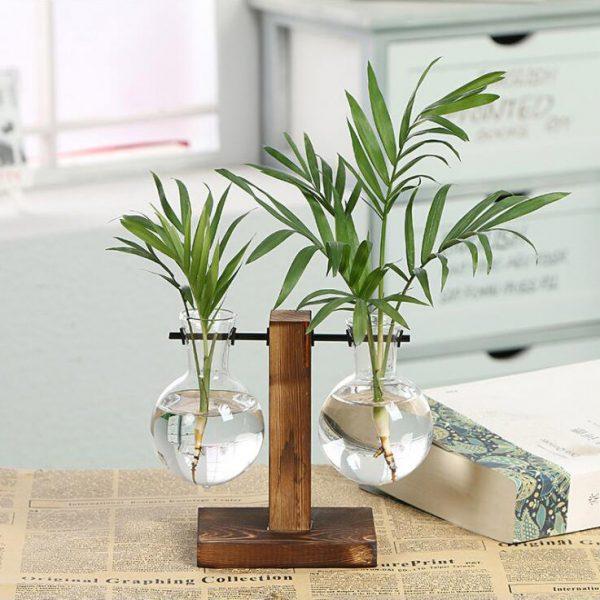 TIDUO   Duo de vases verre et bois