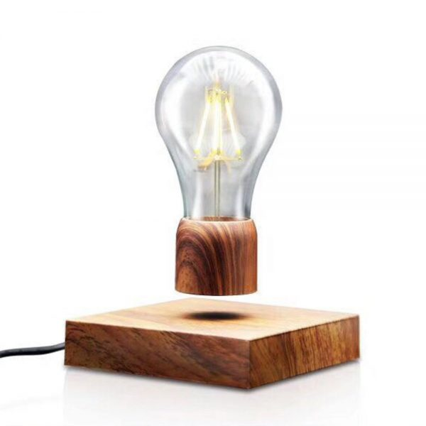 Wood-Magnetic-Levitating-Floating-Lamp-Light-Bulb-Desk-Grain-Unique-Gift-Home-Office-Room-Small-Night-5